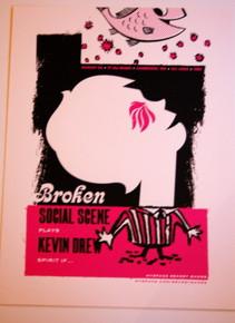 BROKEN SOCIAL SCENE - KEVIN DREW - CAMBRIDGE  -MYSPACE SECRET SHOW POSTER -