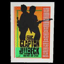 CLAPTON - BECK - UNCUT A/P PROOF- POSTER -FIREHOUSE