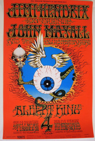 JIMI HENDRIX - BG105 - RICK GRIFFIN - FILLMORE WEST - 1968 -  BILL GRAHAM POSTER