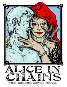 ALICE IN CHAINS - SEATTLE  -ARTIST PROOF -  POSTER - JERMAINE ROGERS