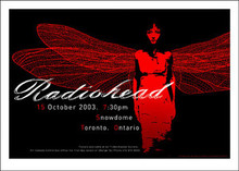 RADIOHEAD - 2003 TOUR POSTER - SNOWDOME - TORONTO - THOM YORKE - KING OF LIMBS