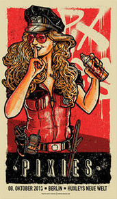 THE PIXIES - FRANK BLACK - BERLIN - 2013- RED EDITION - POSTER - LARS KRAUSE