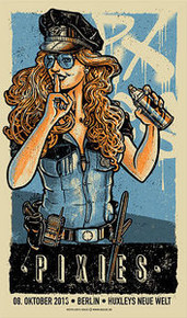 THE PIXIES - FRANK BLACK - BERLIN - 2013- BLUE  EDITION - POSTER - LARS KRAUSE