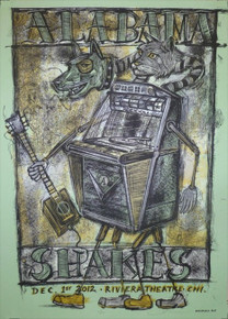 ALABAMA SHAKES - 2012 - RIVIERA - CHICAGO - HOLD ON  - DAN GRZECA - TOUR POSTER