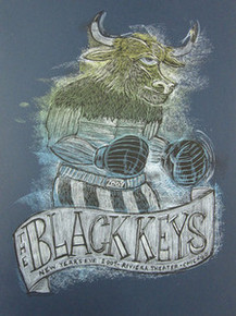 BLACK KEYS - 2009 - CHICAGO - DAN GRZECA -CAMINO - NEW YEARS EVE- TOUR POSTER