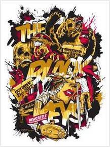THE BLACK KEYS - 2012 - NEWCASTLE  - AUSTRALIA  - SILKSCREEN -  TOUR POSTER