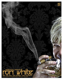 RON WHITE - BLUE COLLAR TOUR - WARFIELD - 2012 - RON DONOVAN - POSTER -
