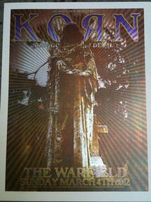 KORN - GOLDENVOICE SERIES - WARFIELD - 2012 - RON DONOVAN - POSTER -  SILKSCREEN