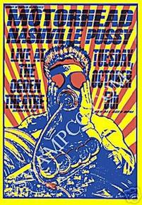 MOTORHEAD - LEMMY - 1999 -NASHVILLE PUSSY - POSTER - KUHN