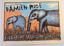 DAMIEN RICE - FILLMORE - DENVER  2007 - TOUR POSTER - LINDSEY KUHN