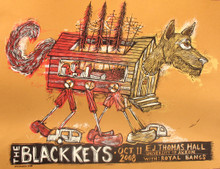 THE BLACK KEYS - 2008 - AKRON - OHIO - ROYAL BANGS - EJ THOMAS HALL - DAN GRZECA