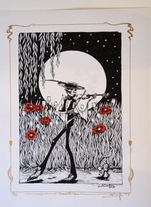 GRATEFUL DEAD - 2 ART PRINT SET - MATCHED NUMBERS - RICHARD BIFFLE