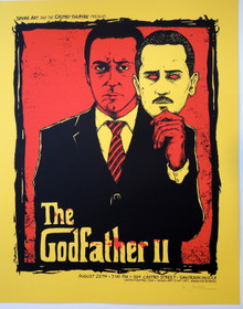 THE GODFATHER -  JERMAINE ROGERS - YELLOW VARIANT - ARTIST PROOF - CASTRO THEATRE