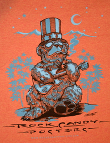 US BLUES - RICHARD BIFFLE - HEATHER ORANGE - XL TEE SHIRT - ROCK CANDY POSTERS