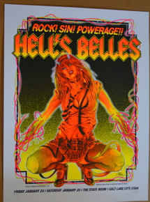 HELLS BELLES - AC / DC - STATE ROOM - SALT LAKE - 2014  - STAINBOY - GREG REINEL
