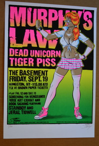 MURPHY'S LAW - DEAD UNICORN - 2008 - BASEMENT - KINGSTON - STAINBOY - GREG REINEL