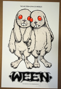 WEEN - 2011 - EMBELLISHED -  LOS ANGELES  - POSTER - JERMAINE ROGERS