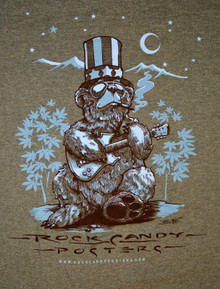 US BLUES - RICHARD BIFFLE - HEATHER GREEN - SMALL  TEE SHIRT - ROCK CANDY POSTERS