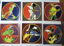 SteppIN OUT - BLOTTER PRINTS - RICHARD BIFFLE - SET OF 6 SIGNED - GRATEFUL DEAD