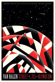 VAN HALEN - 2015 - HOLLYWOOD BOWL - KII ARENS - LOS ANGELES - TOUR POSTER