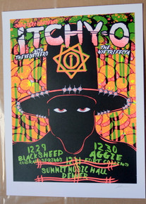 ITCHY-O - LINDSEY KUHN - NYE 2017 - TOUR POSTER - DENVER - FT.COLLINS
