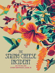 STRING CHEESE INCIDENT - 2018 - CUTHBERT AMPHITHEATER - EUGENE - ARTIST PROOF