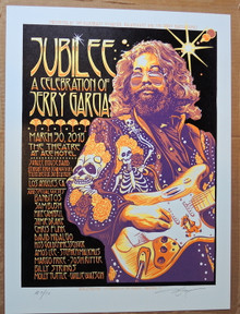 JERRY GARCIA - JUBILEE CEKEBRATION - LOS ANGELES -  GRATEFUL DEAD - 2018  - AJ MASTHAY - POSTER - ART PRINT -  ARTIST PROOF