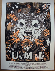 UME - 2018 TOUR POSTER - SILK SCREENED - OTHER NATURE - PHANTOMS - MONUMENTS- MOON LIGHT SPEED