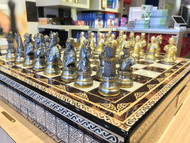 Dal Rossi Medieval Warriors Pewter Chess Pieces