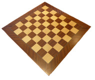 Dal Rossi 50cm Mahogany/Maple Chess Board