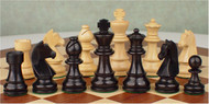 Rex Noir Genius 85mm Ebony/Boxwood Chess Pieces Only