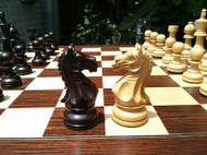 Rex Noir Expert 85mm Rosewood/Boxwood Chess Pieces Only