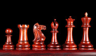 Rex Noir Warsaw 87mm BudRosewood/Boxwood Chess Pieces Only