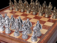 Dal Rossi Dragons Pewter Chess Pieces
