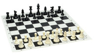 Tournament Chess Set 95mm Single Weighted Pieces with Roll up Board