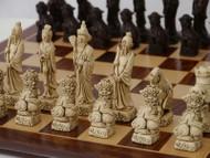 Berkeley Chess Brown Mandarin Chessmen