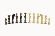 Dal Rossi Sleek Chessmen Brass/Steel Pieces