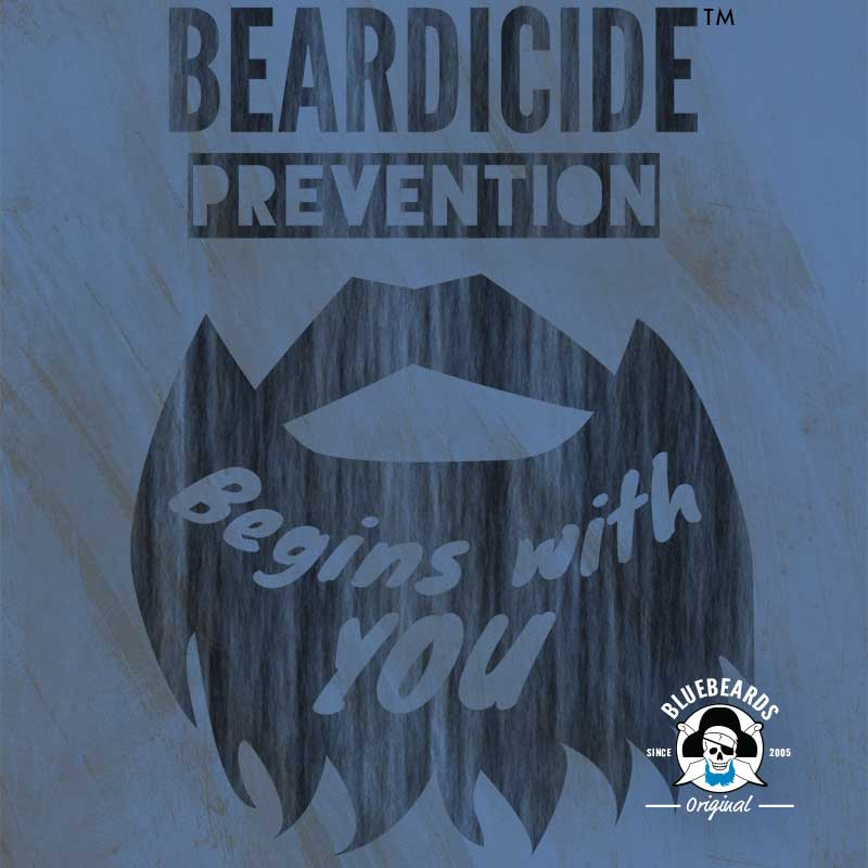 A public service poster encouraging citizens to do their part in the fight against Beardicide.