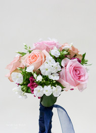 Pastel Rose Bridesmaid Bouquet