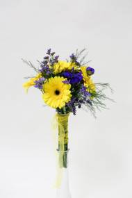 Yellow Gerbera Daisy Bridesmaid Bouquet