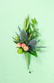 Wild Berry Wedding Boutonniere