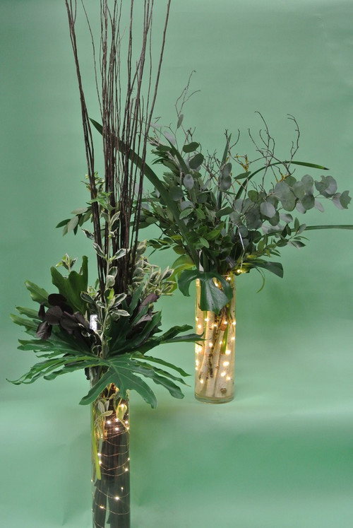 Stunning Greens Only Wedding Décor