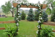 Beautifully Designed Lily Wedding Archway from the Earle's Girls.