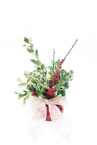 Send a bundle of Christmas joy with this winter arrangement!