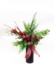 Be Jolly This Year with a Beautiful Vase filled with a variety of winter fresh flowers!