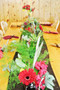 Mixed Greens and Floral table top Decor