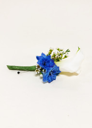 Something Blue Calla Liliy Boutonniere