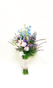 Wild Flowers bridal Bouquet wrapped in Burlap. The perfect Country Chic Bouquet