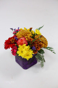 Harvest Cube Flower Arrangement