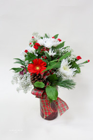 Happiest of Holidays Vase Arrangement